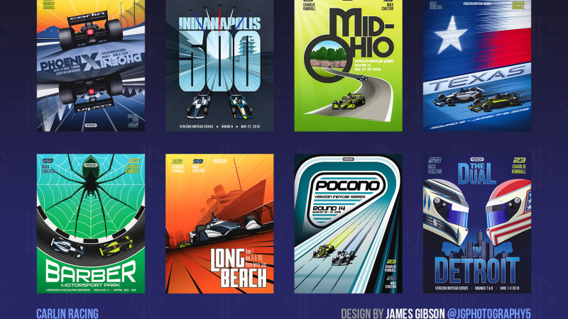 Thumbnail for From Coast to Coast: Carlin's 2018 Indycar Posters
